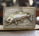 2741/Hand-Forged-Belt-Buckle-Sterling-Silver-Brown-Trout