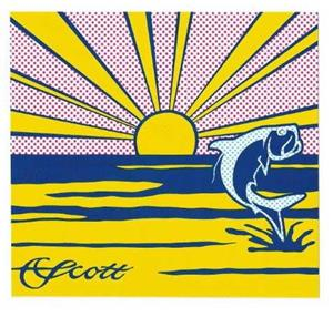 Scott Rising Sun/Jumping Tarpon Decal